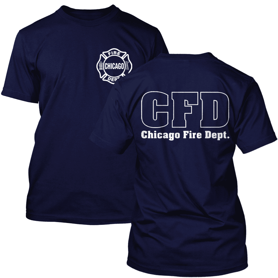 Chicago Fire Dept. - T-Shirt in navyblau