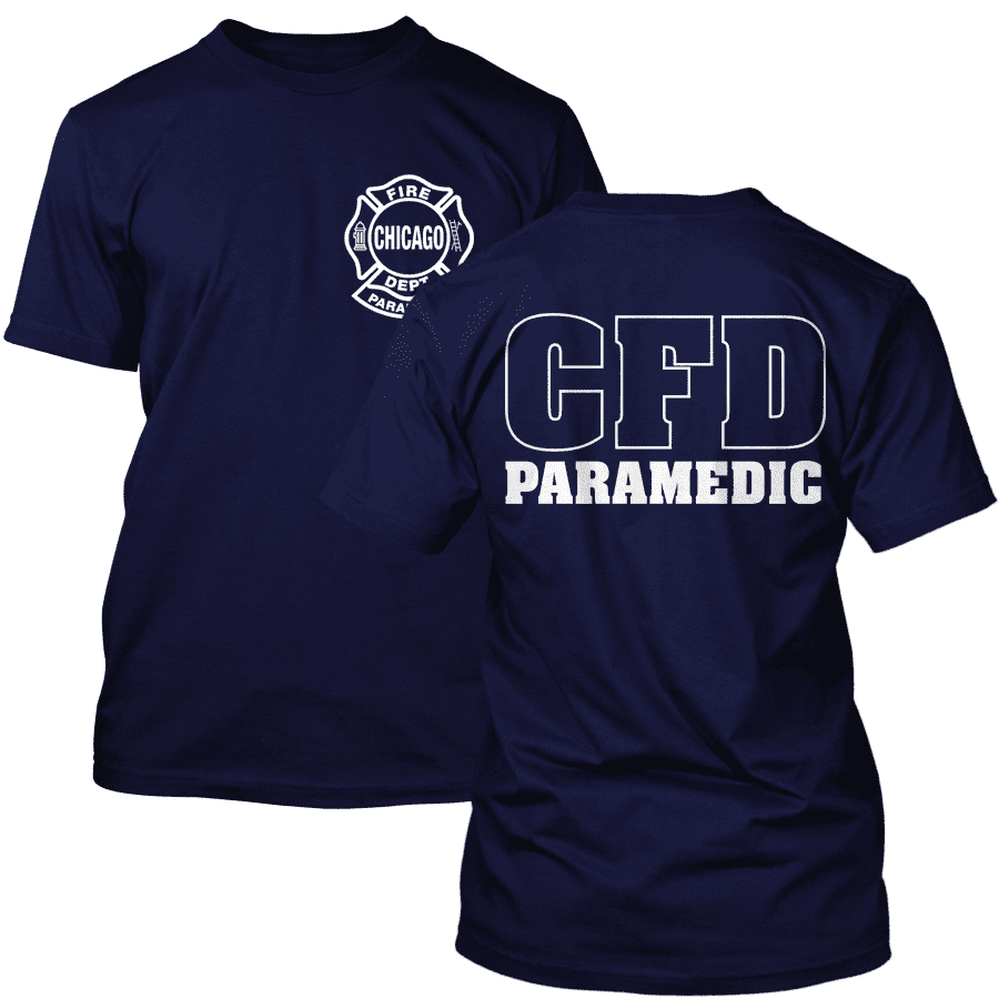 Chicago Fire Dept. Paramedic T-Shirt in navy