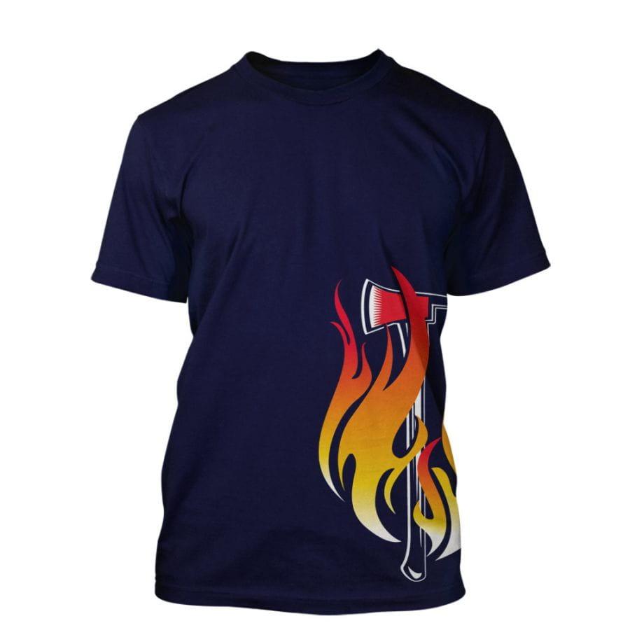 Fire Brigade T-Shirt - Axe Design