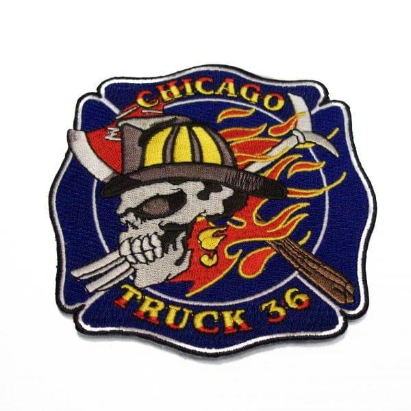 Chicago Fire Dept. - Truck 36 Patch / Aufnäher