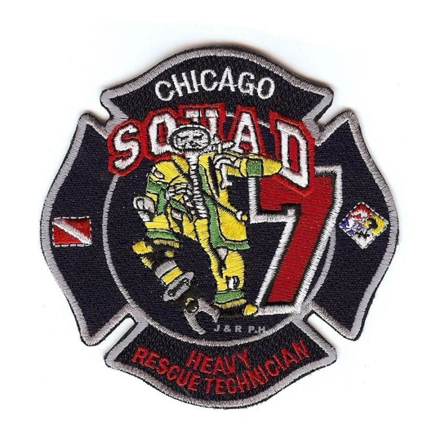 Chicago Fire Dept. - Squad 7 Heavy Rescue Technician - Patch / Patches