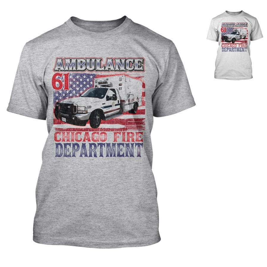 Chicago Fire Dept. - Ambulance 61 - T-Shirt