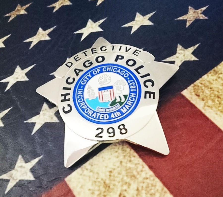 Chicago Police Dept. - Metall Badge / Abzeichen - Detective