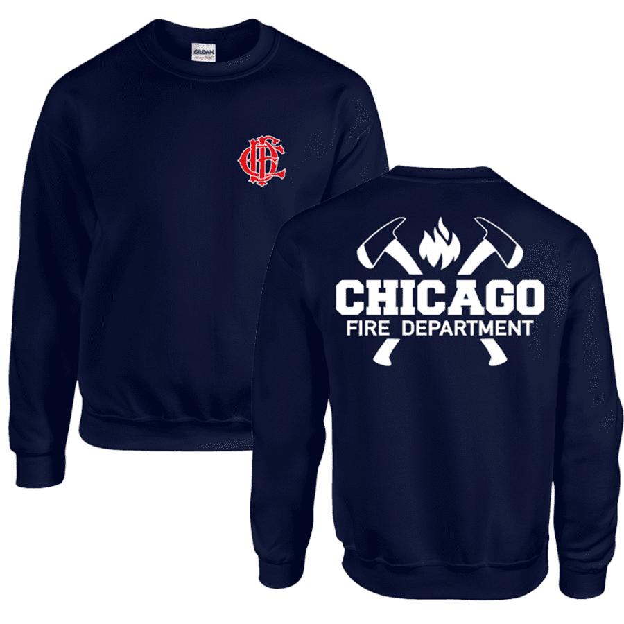 Chicago Fire Dept. - Sweatshirt with Axe Motif