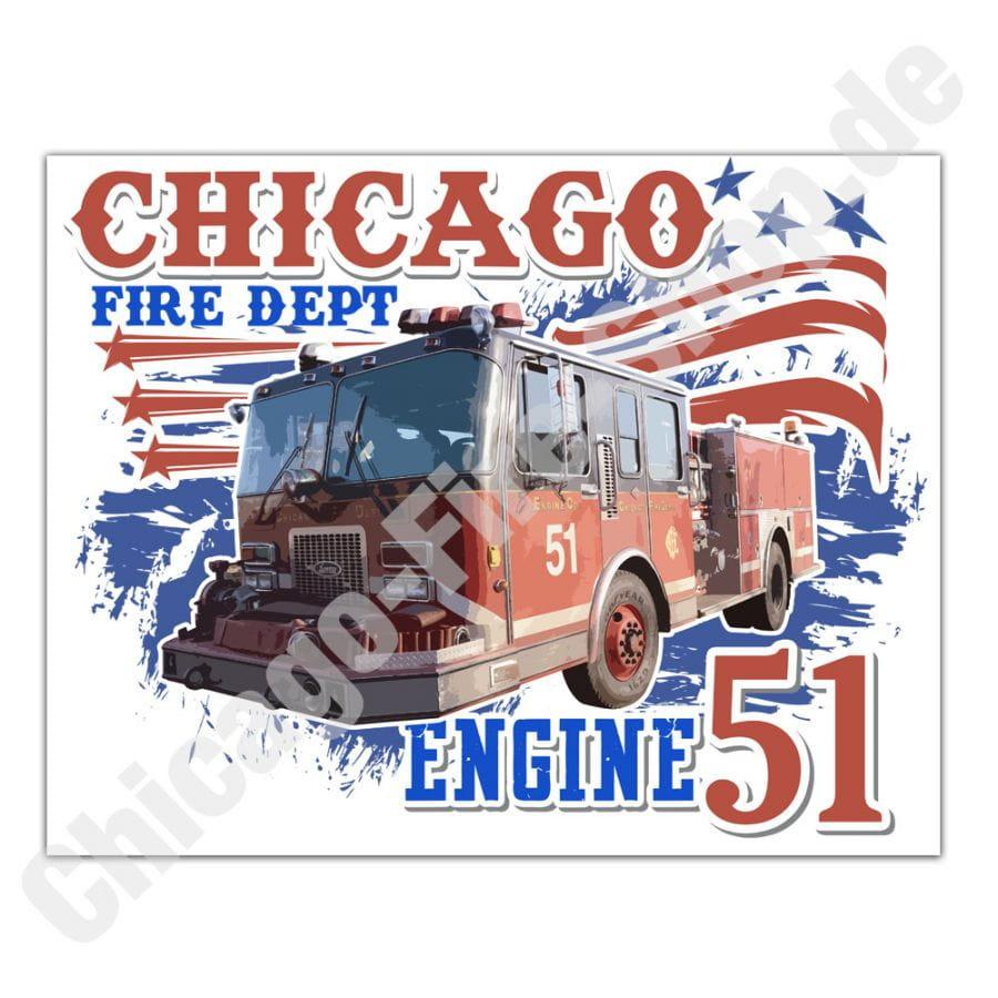 Chicago Fire Dept. - Engine 51 - Aufkleber