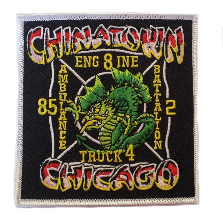 Chicago Fire Dept. - Engine 8, A85, Truck 4 Chinatown - Patch / Aufnäher