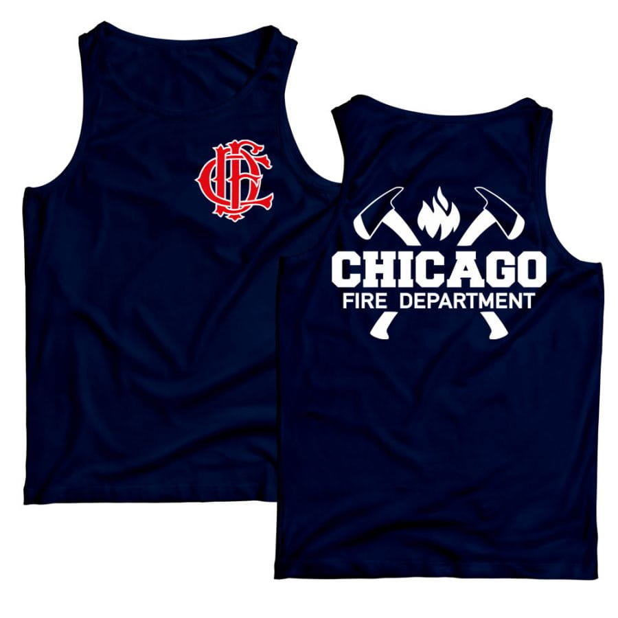 Chicago Fire Dept. - Tank top with axe motif