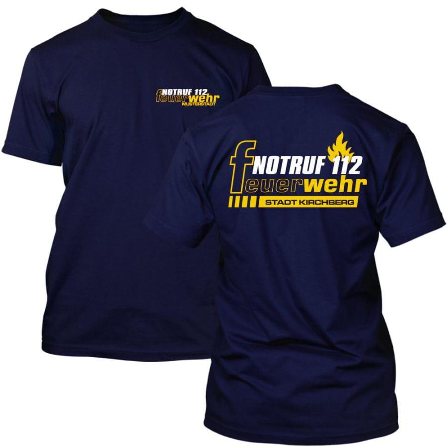 Premium Feuerwehr T-Shirt mit Ortsnamen