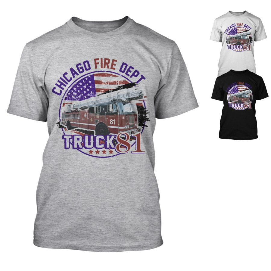 Chicago Fire Dept. - Truck 81 - T-Shirt
