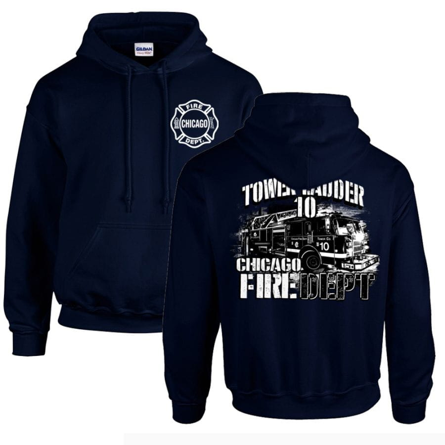 Chicago Fire Dept. - Tower 10 Pullover mit Kapuze