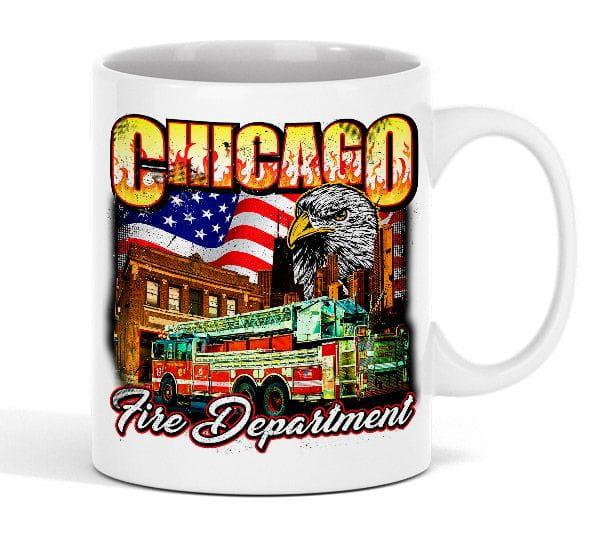 "Chicago Fire Dept. - ""Eagle Motiv"" Tasse aus Keramik"