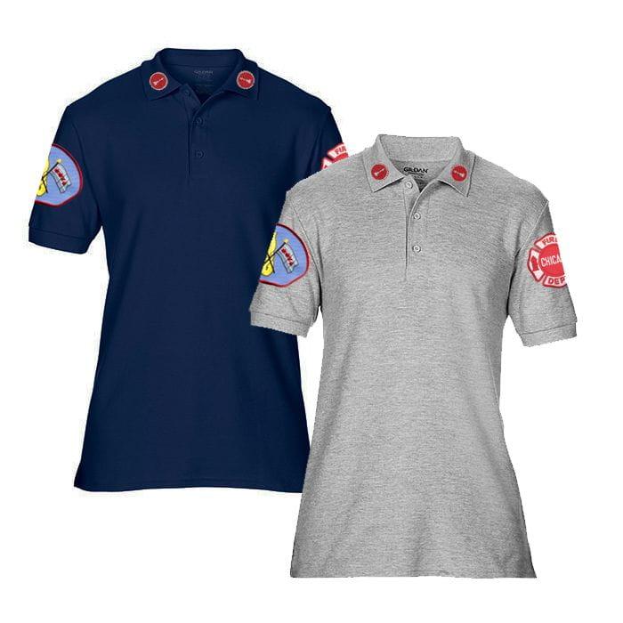 Chicago Fire Dept. - Lieutenant Premium-Polo in grau oder navy