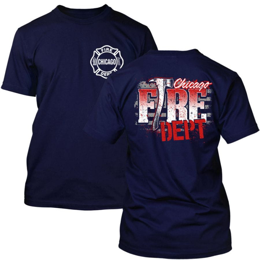Chicago Fire Dept. - T-Shirt (Axt Design)