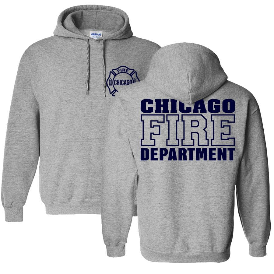 Chicago Fire Dept. - Hooded Sweater in Grey