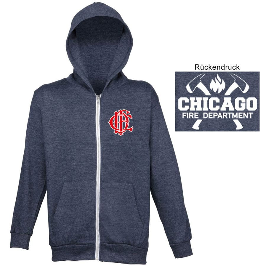 Chicago Fire Dept. - Hooded sweat jacket for women