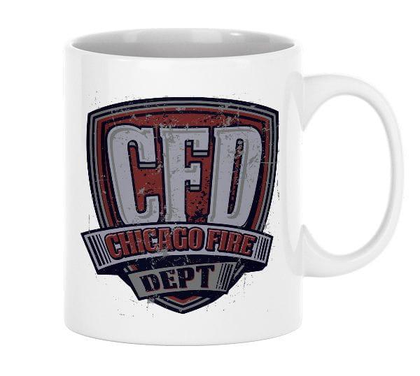 Chicago Fire Dept. - ceramic cup (vintage motif)