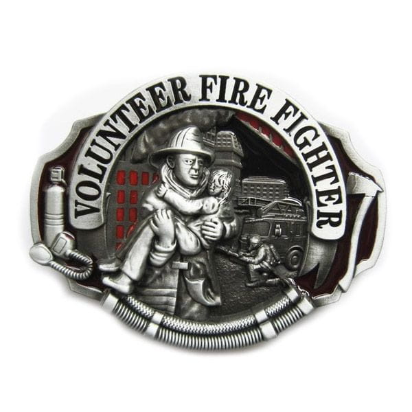 Firefighter Metal Belt Buckle