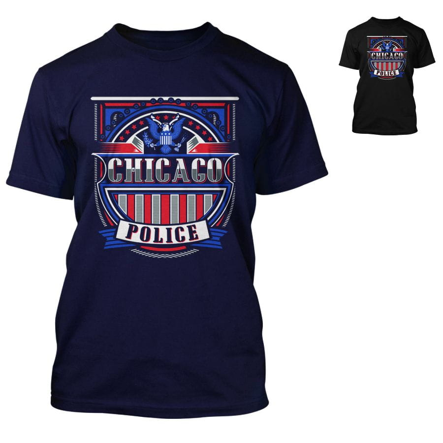 Chicago Police Dept. - T-Shirt in navy or black