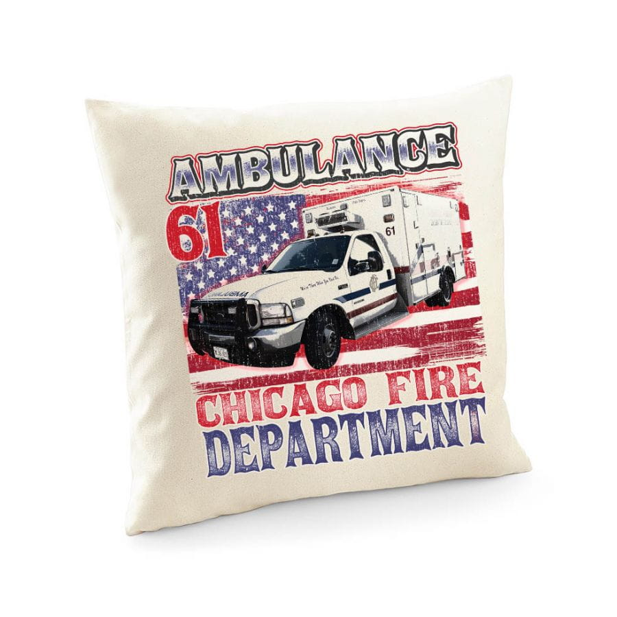 Chicago Fire Dept. - Ambulance 61 - Cushion cover