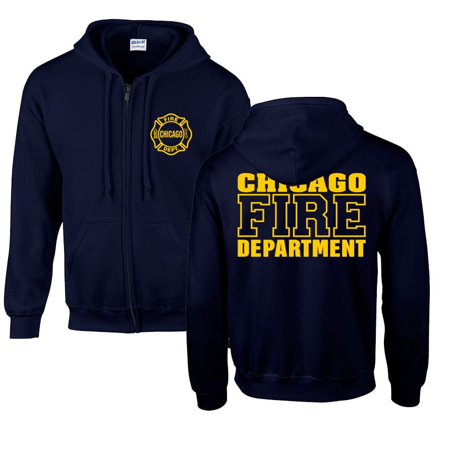 Chicago Fire Dept. sweat jacket with hood