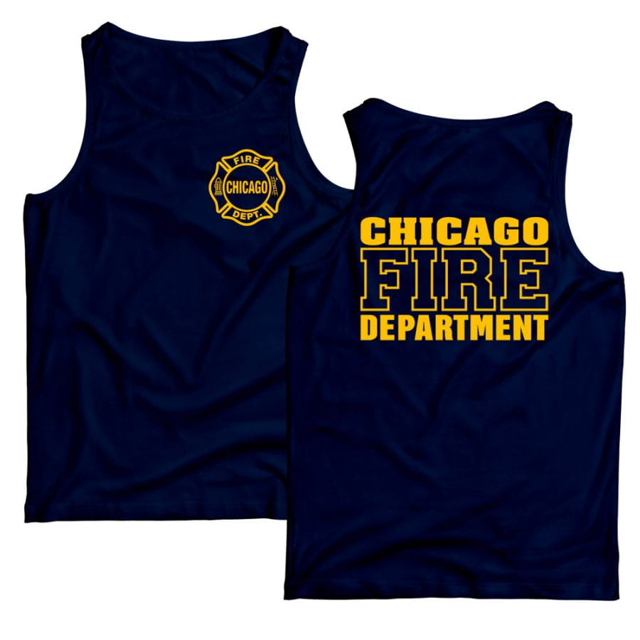 Chicago Fire Dept. - Tanktop (navy/gelb)