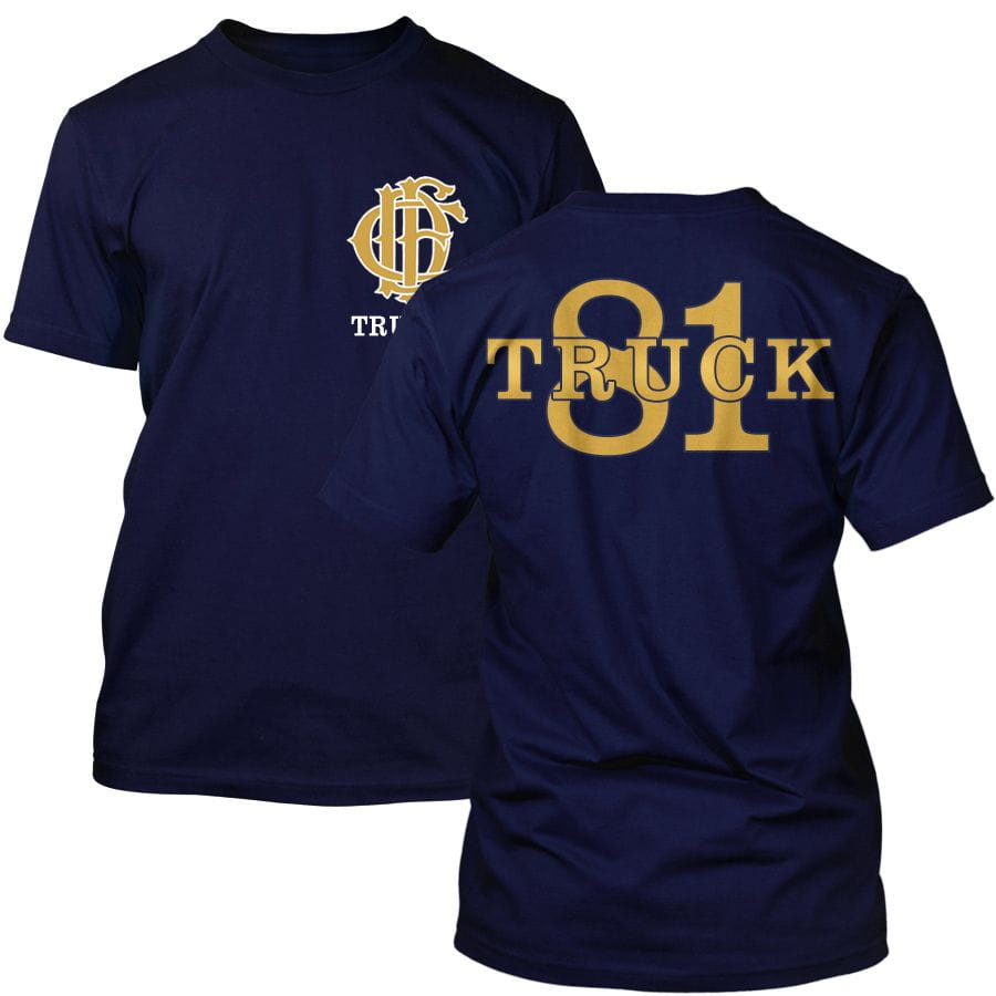 Chicago Fire Dept. - Truck 81 T-Shirt (Gold Edition)