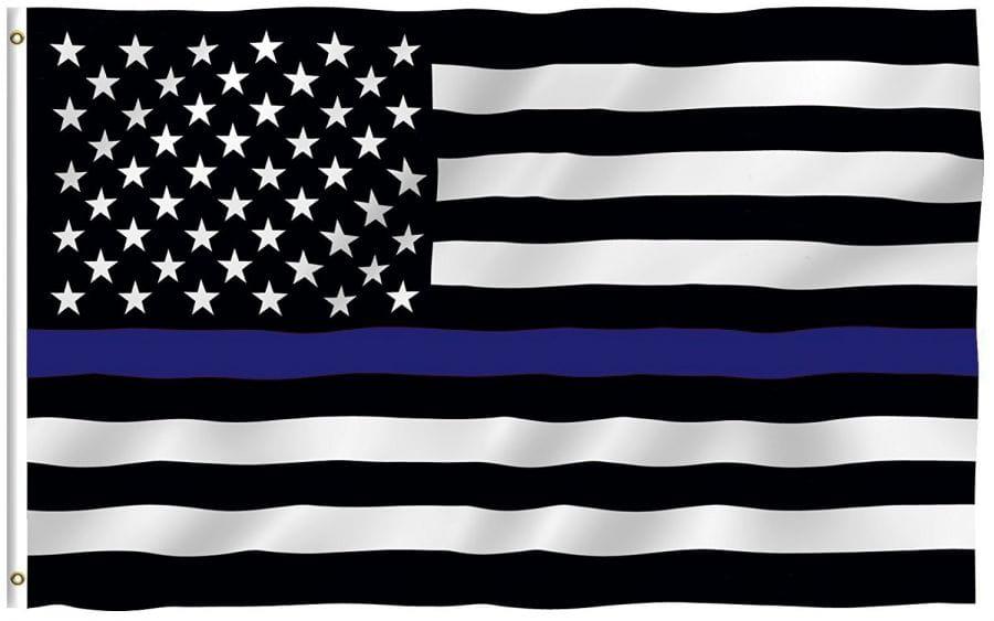 USA Flagge (Blue Line - Police) 150cm x 90cm