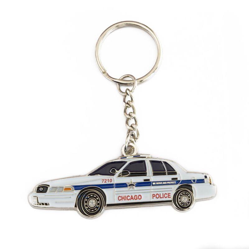 Chicago Police Car - Keyring Pendant