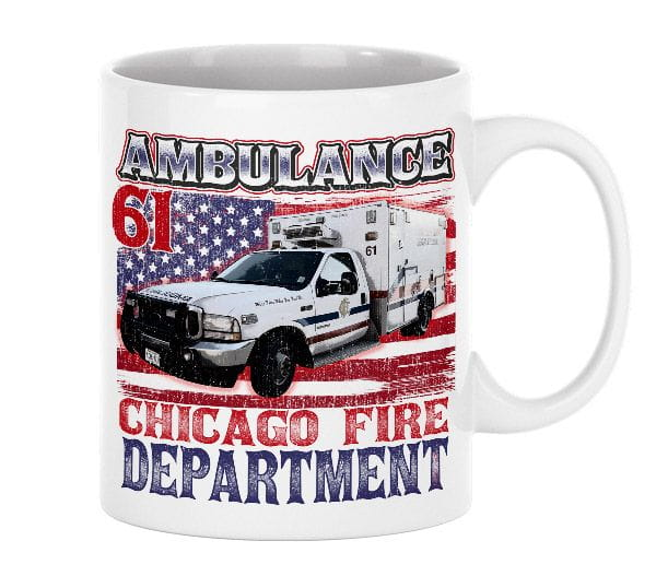 Chicago Fire Dept. - Ambulance 61 - Ceramic cup
