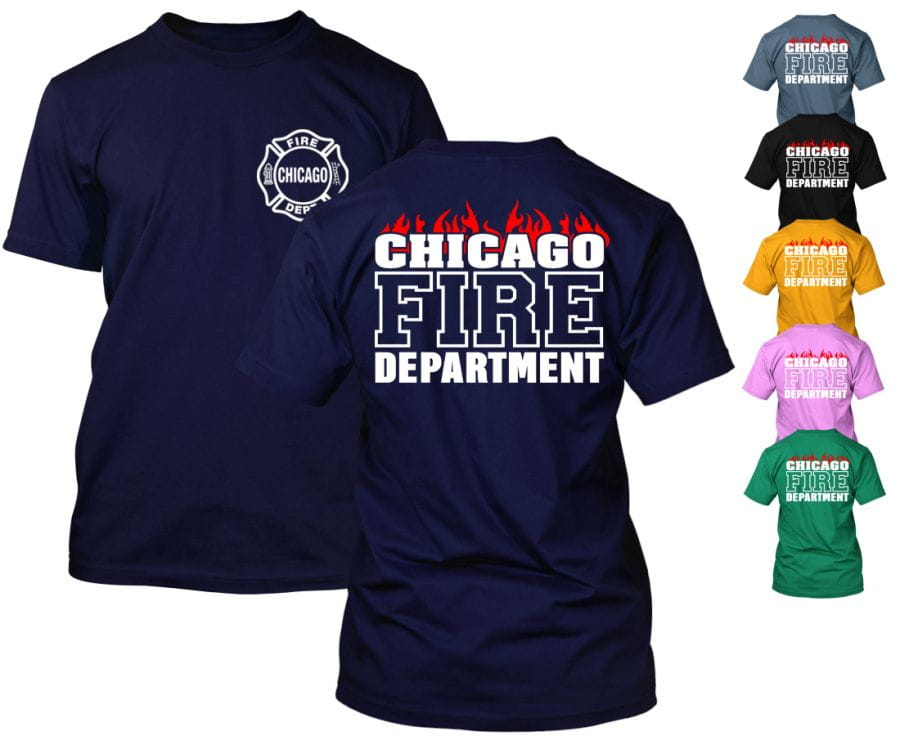 Chicago Fire Dept. - T-Shirt (Flames Edition)
