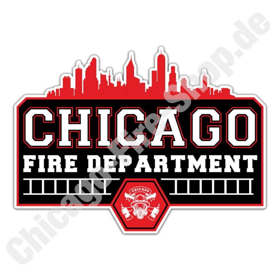 Chicago Fire Dept. - Skyline - Sticker