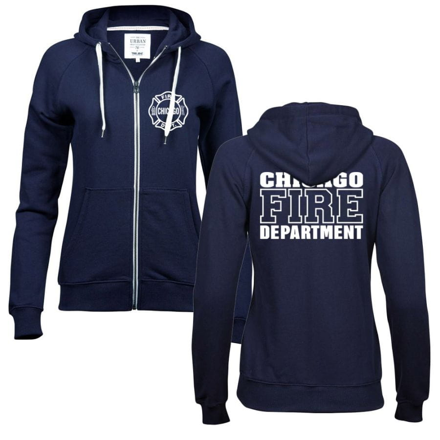 Chicago Fire Dept. - Premium Damen Sweatjacke