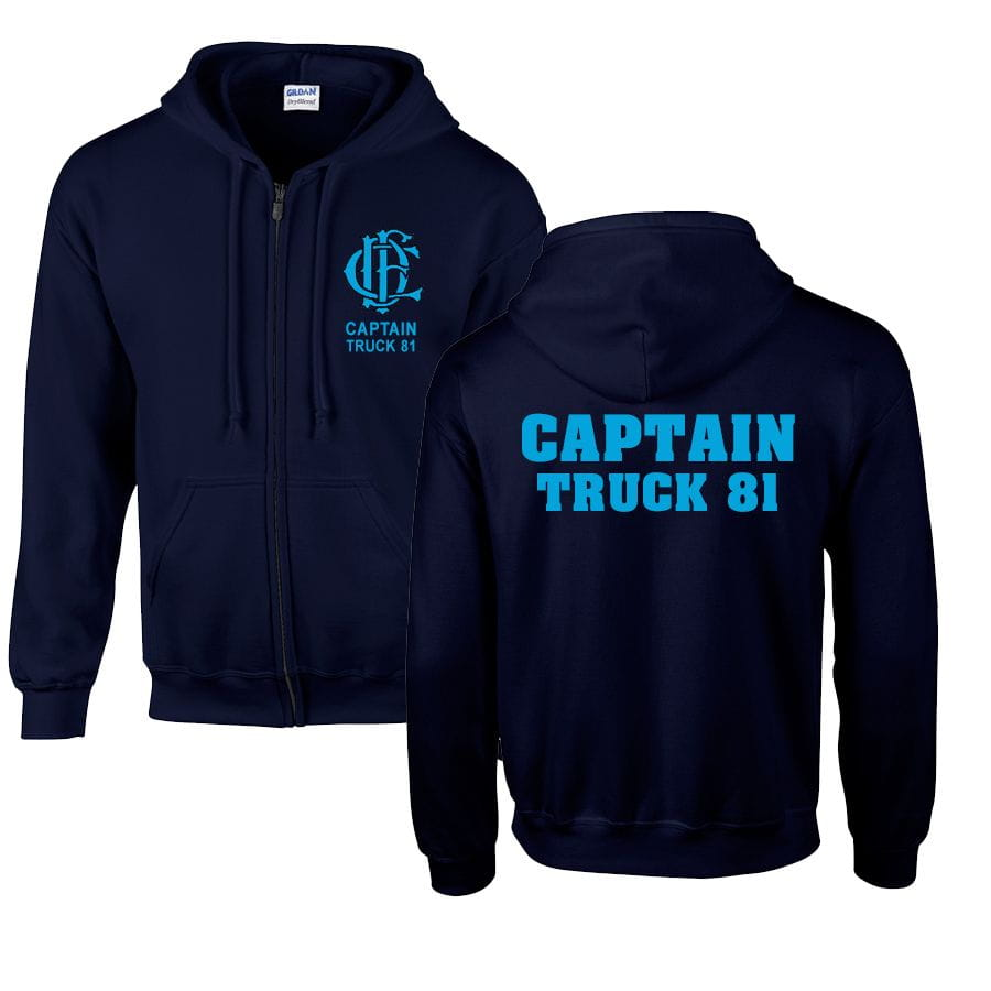 Chicago Fire Dept. - Captain Truck 81 sweat jacket