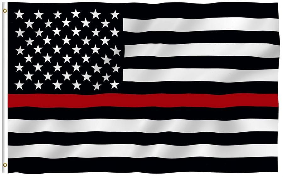 USA Flagge (Red Line - Firefighter) 150cm x 90cm