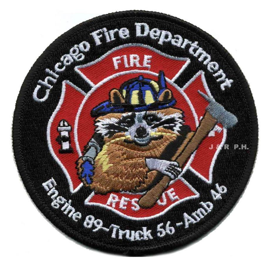Chicago Fire Dept. - Engine 89, Truck 56, Ambulance 46 - Patch / Patch