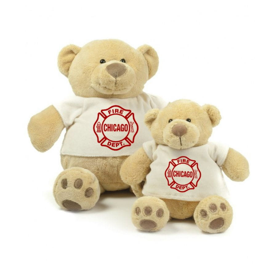 Chicago Fire Dept. - Teddy bear in different sizes