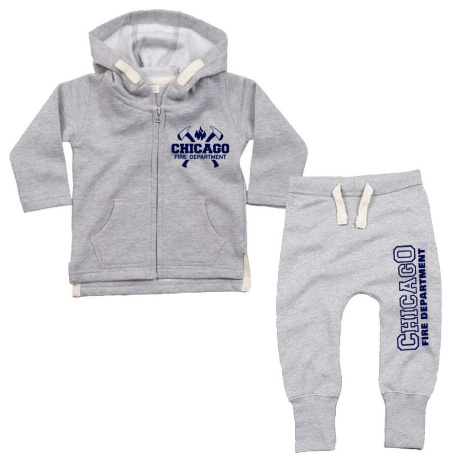 Chicago Fire Dept. - Baby Set Grey