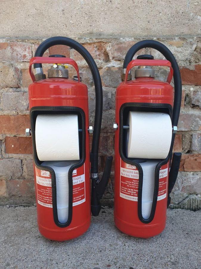Feuerlöscher Toilettenpapier-Spender