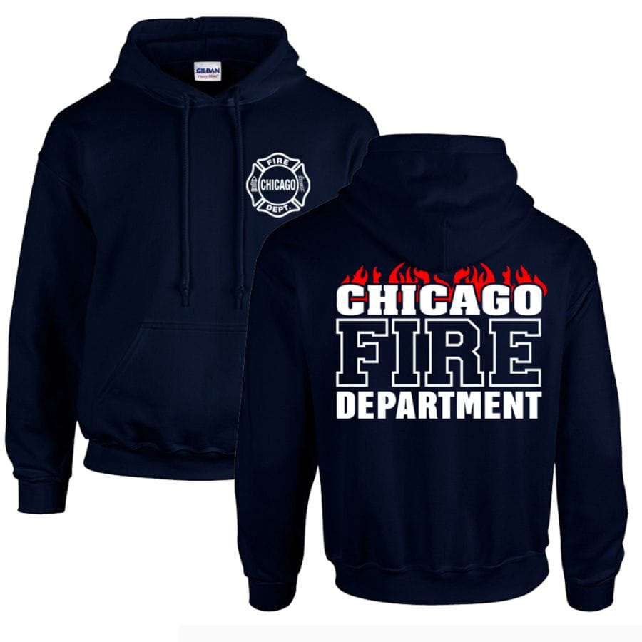 Chicago Fire Dept. - Pullover mit Kapuze (Flammen Edition)