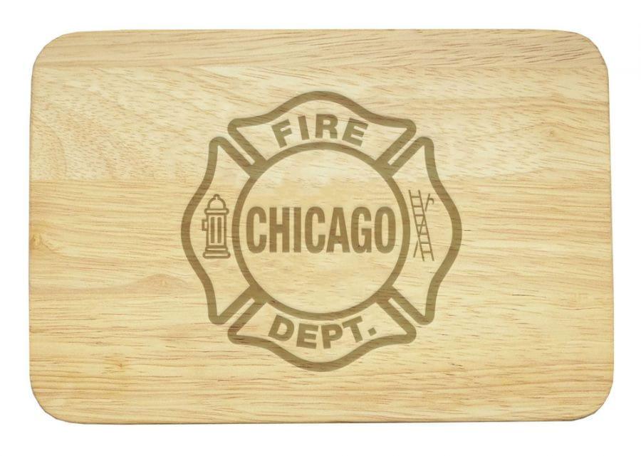 Chicago Fire Dept. - Frühstücksbrettchen aus Holz